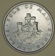 Isle Of Man - 5 Pence - 1975 - Elizabeth II - UNC - Regional Coins