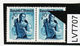 LVT707 ÖSTERREICH 1948 Michl 895 III PLATTENFEHLER LANGES L SIEHE ABBILDUNG - Abarten & Kuriositäten