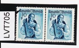 """LVT705 ÖSTERREICH 1948 Michl PLATTENFEHLER FARBFLECK Auf """"R"""" SIEHE ABBILDUNG - Abarten & Kuriositäten"""