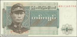 TWN - BURMA 56 - 1 Kyat 1972 Prefix MD UNC - Myanmar