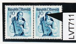 """LVT711 ÖSTERREICH 1948 Michl 895 PLATTENFEHLER """"HAARSTRÄHNE SIEHE ABBILDUNG - Abarten & Kuriositäten"""