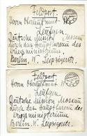 Komplett Erhaltene Korrespondenz Aus Dem 1.WK  An Die Deutsche Militärmission Moskau 1918(14 Briefe Mit Inhalt)++++ - Dokumente