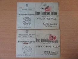 "Italie - 2 Telegraphes De La ""Banca Commerciale Italiana"" Avec Timbres YT N°108 - Cachets Ragusa / Mondaino 1925 - 1900-44 Victor Emmanuel III"