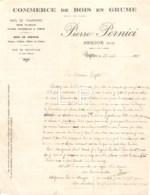 5-1687   Facture  1922  COMMERCE DE BOIS EN GRUME PIERRE PERNICI A CERDON - M. RIGOLLET A AMBERIEU EN BUGEY - France
