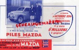 62- SAINT MARTIN BOULOGNE-PAS DE CALAIS-BUVARD PILES MAZDA SUPERCONTROL-GUY LEBLOND IMPASSE MAQUETRA- 4 CV RENAULT SPORT - Electricité & Gaz