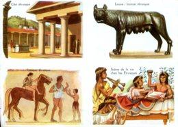 Images Bon Point : Civilisation étrusque (Louve, Fresque...) - Old Paper