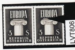 LVT806 ÖSTERREICH 1960 Michl 1081 PLATTENFEHLER FARBFLECK ** Postfrisch SIEHE ABBILDUNG - Abarten & Kuriositäten