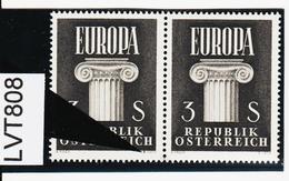 LVT808 ÖSTERREICH 1960 Michl 1081 PLATTENFEHLER FARBFLECK ** Postfrisch SIEHE ABBILDUNG - Abarten & Kuriositäten