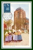 NEDERLAND Carte Maximum Œuvre De Bienfaisance 1958 (XX !) Yv. N° 685 Dutch Costumes Folklore - Windmills