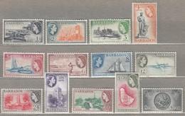 BARBADOS 1953 MVLH (**/*) Mi 203-215, SG 289-301 #23260 - Barbades (...-1966)