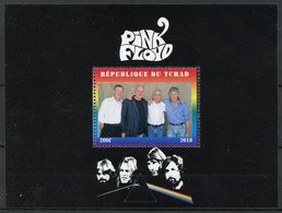 Chad 2018 CTO Pink Floyd Rock Band 1v M/S Music Famous People Stamps - Music