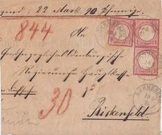 DR Briefstück Minr.3x 19 K2 Hermeskeil 19.5.75 - Deutschland