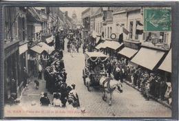 Carte Postale 80. Ham  Fêtes Des 21 22 Et 23 Juin 1913 Cavalcade Très Beau Plan - Ham