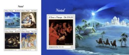 Z08 ST18405ab Sao Tome And Principe 2018 Christmas MNH ** Postfrisch Set - Sao Tome And Principe