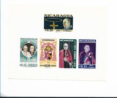 NICARAGUA 1959 RELIGION, CARDINAL SPELLMAN, SOUVENIR SHEET, INPERFORATED 2 SOUVENIR SHEET MI BL50-51 YT 91-92 - Nicaragua