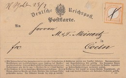 DR Karte EF Minr.14 Federstrichentwertung Charlottenhütte 22.2.73 - Briefe U. Dokumente