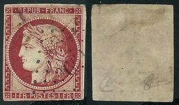 France N° 6 Obl. Pc 3661 - Signé Calves - Cote 1000 Euros - 1849-1850 Ceres
