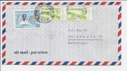 HAITI   Lettre 1967  Sent To Switzerland Avec 2 Timbres 5ctm Avec Intercalaire - Haiti