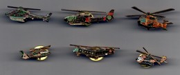 LOT DE 6 PIN'S HELICOPTERE - Airplanes