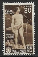 Italy Scott # 361 Mint Hinged Oraziano, Ajax, Lightning, 1936 - Neufs