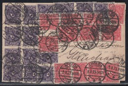 DR Karte Mif Minr.12x 206,14x 230 Apolda 5.8.23 Gel. Nach Glauchau - Briefe U. Dokumente
