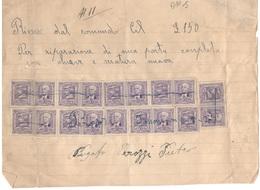 ITALY1930's:50Ct.pairs Of IMPOSTA - 1900-44 Victor Emmanuel III.