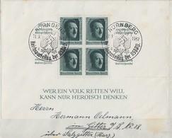 DR Brief EF Minr.Block 11 SST Nürnberg 11.9.37 - Deutschland
