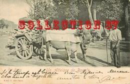 ☺♦♦ TRANSPORT D'un CHARIOT De PIERRES Par Un ATTELAGE De BOEUFS BASQUE - CARTE 1900 - Cartoline
