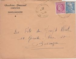 Enveloppe Commerciale / BARBIER FOURNET / Confection / 43 Sainte-Ségolène / Haute-Loire - Maps