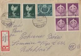 DR R-Brief Mif Minr.4x 818,2x 902,904 Berlin 14.10.44 - Deutschland