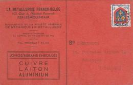 Carte Commerciale Préo / La Métallurgie Franco-Belge / Cuivre Laiton Aluminium / 92 Issy Les Moulineaux - Maps