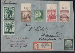DR R-Brief Mif Minr.516,2x 662,665 OR, 666,667 OR, 668 OR Gohrisch19.12.38 - Briefe U. Dokumente