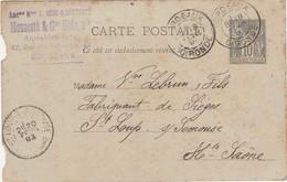 Carte Commerciale 1893 / Entier / MOUNESTE BEDO / Ameublement / 33 Bordeaux - Maps