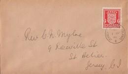 Dt. Besetzung Jersey Brief EF Minr.2 Jersey 1.4.41 FDC - Besetzungen 1938-45