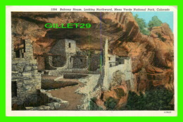 MESA VERDE, CO - BALCONY HOUSE, LOOKING NORTHWARD - TRAVEL IN 1939 - SANBORN SOUVENIR CO - - Mesa Verde
