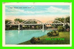 KANSAS CITY, KS - ARCH BRIDGE OVER KANSAS RIVER - TRAVEL IN 1945 - E. C. KROPP CO - - Kansas City – Kansas