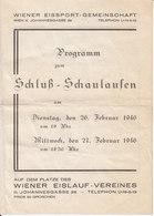 AD054 - Original Programm Zum Schluß-Schaulaufen Der Wiener Eissport-Gemeinschaft 1946 - Programmes