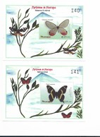 NICARAGUA 1999 - 2000 BUTTERFLIES,  PAPILLONS, SCOTT. 2361-2364 2 SHEETS + 2 SOUVENIR SHEETS - Nicaragua