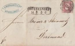 Preussen Brief EF Minr.6 Düsseldorf Nr.-St. 359 Gel. Nach Dortmund - Prusse