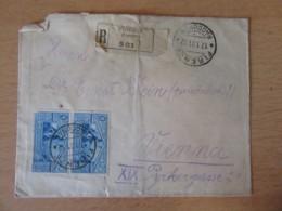 Italie Vers Autriche - Recommandé Firenze (Florence) N°501 - Paire De Timbres YT N°269 - Nombreux Cachets - 1931 - Storia Postale