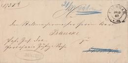 Preussen Brief K2 Calbe A. S. 20.12.67 Beamtenstempel Zurück Empfänger Verstorben - Preussen