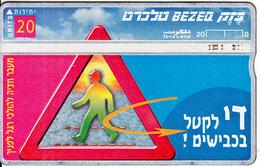 ISRAEL - Stop Road Killing/Walking Cross, CN 862H, 05/98, Used - Israel