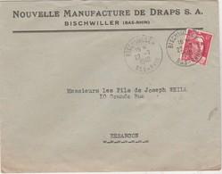 Enveloppe Commerciale 1948 / Nouvelle Manufacture Draps / 67 Bischwiller - Maps