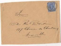 LETTRE DE MONBASA KENYA DE 1910 - Kenya & Ouganda