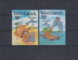 S178. Turks & Caicos - MNH - Cartoons - Disney's - Cartoon Characters - Pluto - Disney
