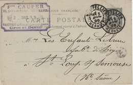 Carte Commerciale 1899 / Entier / Fois CAUPER / Vannerie Chaises / 34 Montpellier Hérault - Maps