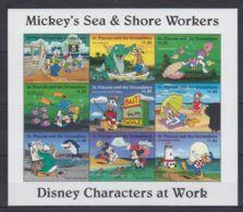 Y178. St. Vincent - MNH - Cartoons - Disney's - Cartoon Characters -Mickey-Donal - Disney