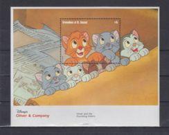 W178. St. Vincent - MNH - Cartoons - Disney's - Oliver And Company - Disney