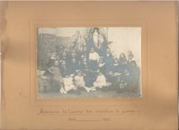 Photo Sur Carton - Oeuvres Des Orphelins De Guerre - Guerre 14/18 WWI - Photo D'enfants - A SITUER Province Liège ? - 1914-18