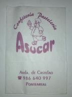 Servilleta,serviette .Confeitaria Pastelaria Asucar,Ponteareas,Espanha - Serviettes Publicitaires